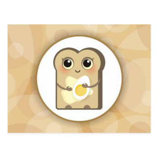 Cute Little Toast - Butter and Egg Post Card