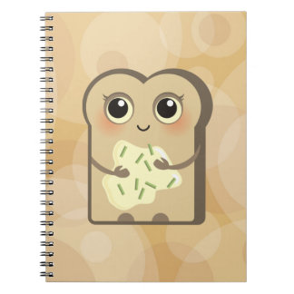 Cute Little Toast - Cheese Cream and Chives Notebook