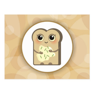 Cute Little Toast - Cheese Cream and Chives Postcard