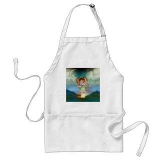 Cute little toon tot baby fairys 1 adult apron