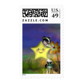 Cute little toon tot baby fairys 1 postage stamp