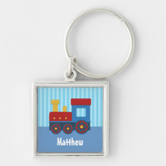 Cute Little Train Boy Personalized Keychain