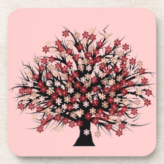 Cute Little Tree- cork coasters -set of 6