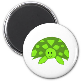 Cute little Turtle 2 Inch Round Magnet