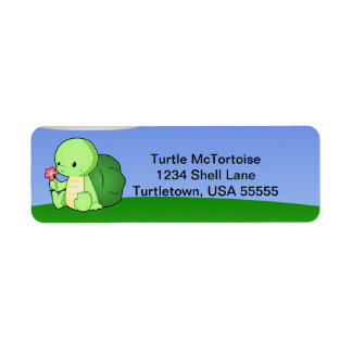 Cute Little Turtle Label