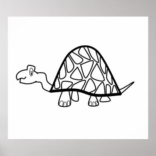 Cute little turtle poster