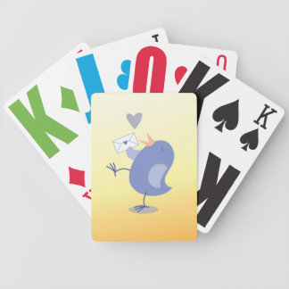 Cute little Tweeter Bird with a letter! Bicycle Playing Cards