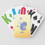 Cute little Tweeter Bird with a letter! Bicycle Card Decks