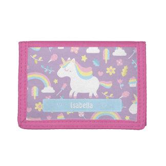 Cute Little Unicorn Rainbow Girls Pattern Wallet