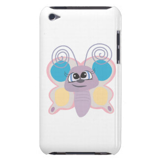cute little vector butterfly cartoon barely there iPod cases