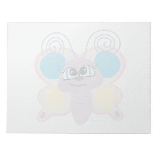 cute little vector butterfly cartoon notepads