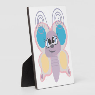 cute little vector butterfly cartoon photo plaques
