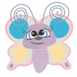 cute little vector butterfly cartoon photo cut outs