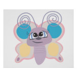 cute little vector butterfly cartoon posters