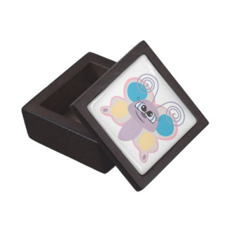 cute little vector butterfly cartoon premium jewelry box