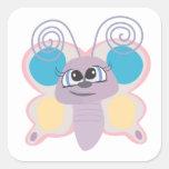cute little vector butterfly cartoon sticker