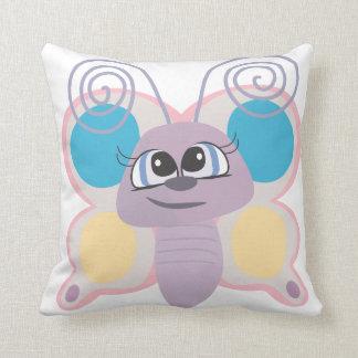 cute little vector butterfly cartoon throw pillows