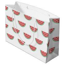 Cute Little Watermelon Pattern Large Gift Bag