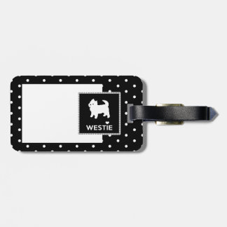 Cute Little Westie - West Highland Terrier Luggage Tag