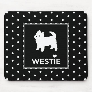 Cute Little Westie - West Highland Terrier Mouse Pad