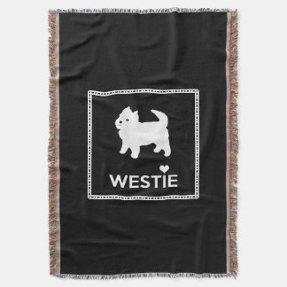 Cute Little Westie - West Highland Terrier Throw