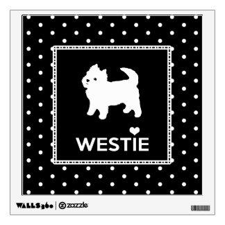 Cute Little Westie - West Highland Terrier Wall Decal