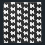 "Cute Little Westie - West Highland White Terrier Bandana<br><div class=""desc"">Adorable little westie dog pattern in black and white.</div>"