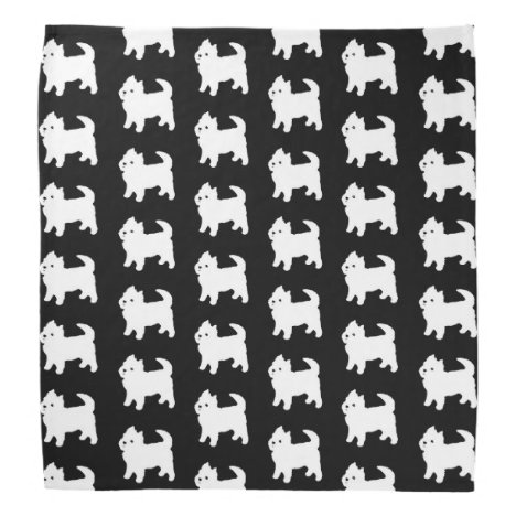 Cute Little Westie - West Highland White Terrier Bandana