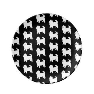 Cute Little Westie - West Highland White Terrier Dinner Plate
