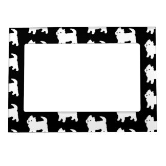 Cute Little Westie - West Highland White Terrier Magnetic Picture Frame