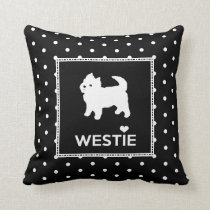 Cute Little Westie - West Highland White Terrier Throw Pillow