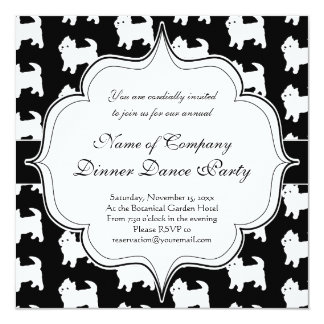 """Cute Little Westie - West Highland White Terriers 5.25"""" Square Invitation Card"""