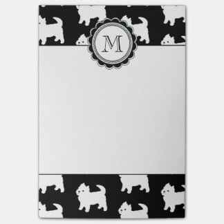 Cute Little Westie - West Highland White Terriers Post-it Notes