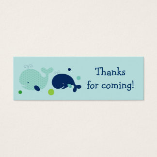 Cute Little Whale Nautical Favor Gift Tags