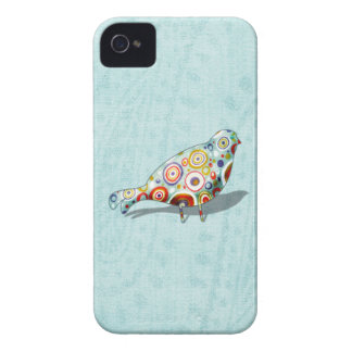 Cute Little Whimsical Bird on Paisley iPhone 4 Covers