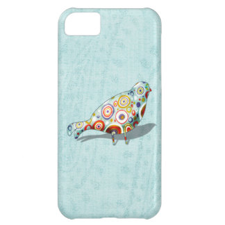 Cute Little Whimsical Bird on Paisley iPhone 5C Case