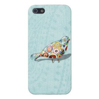 Cute Little Whimsical Bird on Paisley iPhone 5 Case