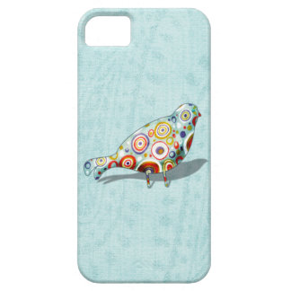 Cute Little Whimsical Bird on Paisley iPhone SE/5/5s Case