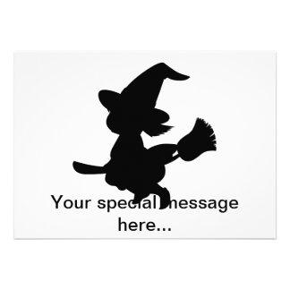 Cute Little Witch Custom Invite