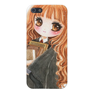 Cute little witch holding books iPhone SE/5/5s cover