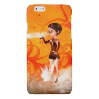 Cute little witch glossy iPhone 6 case