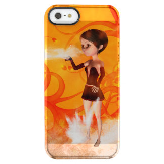 Cute little witch uncommon clearly™ deflector iPhone 5 case