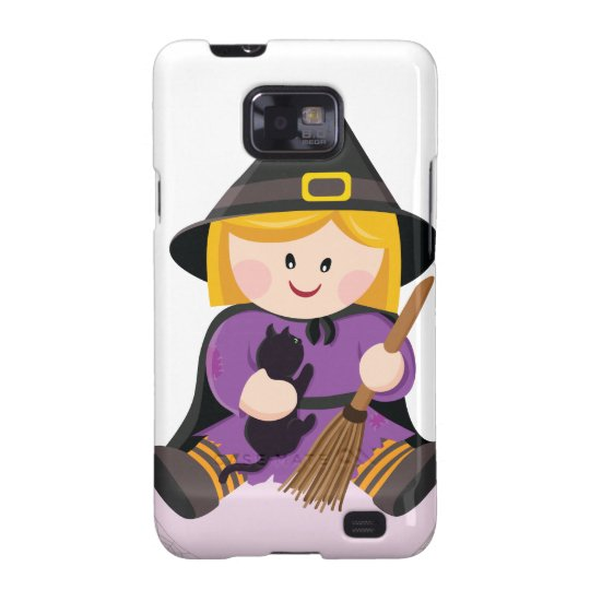 Cute little witch with blond hair galaxy s2 cover