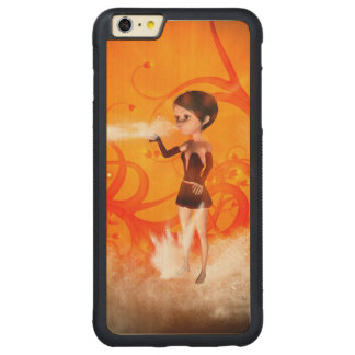 Cute little witch carved® maple iPhone 6 plus bumper case