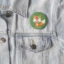 Cute Little Woodland Fox Button