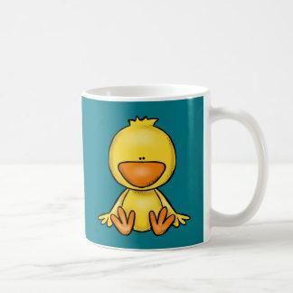 Cute little yellow baby duck coffee mug