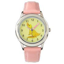 Cute Little Yellow Cartoon Duck Wrist Watch