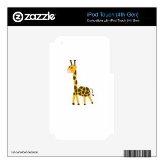 Cute little yellow Giraffe Design iPod Touch 4G Decal