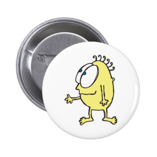 cute little yellow monster 2 inch round button