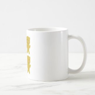 Cute little yellow Teddies on white Coffee Mug